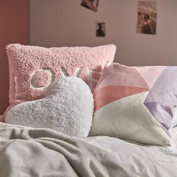 "Rose Heart-Shaped Decorative Pillow 18"" X 18"""