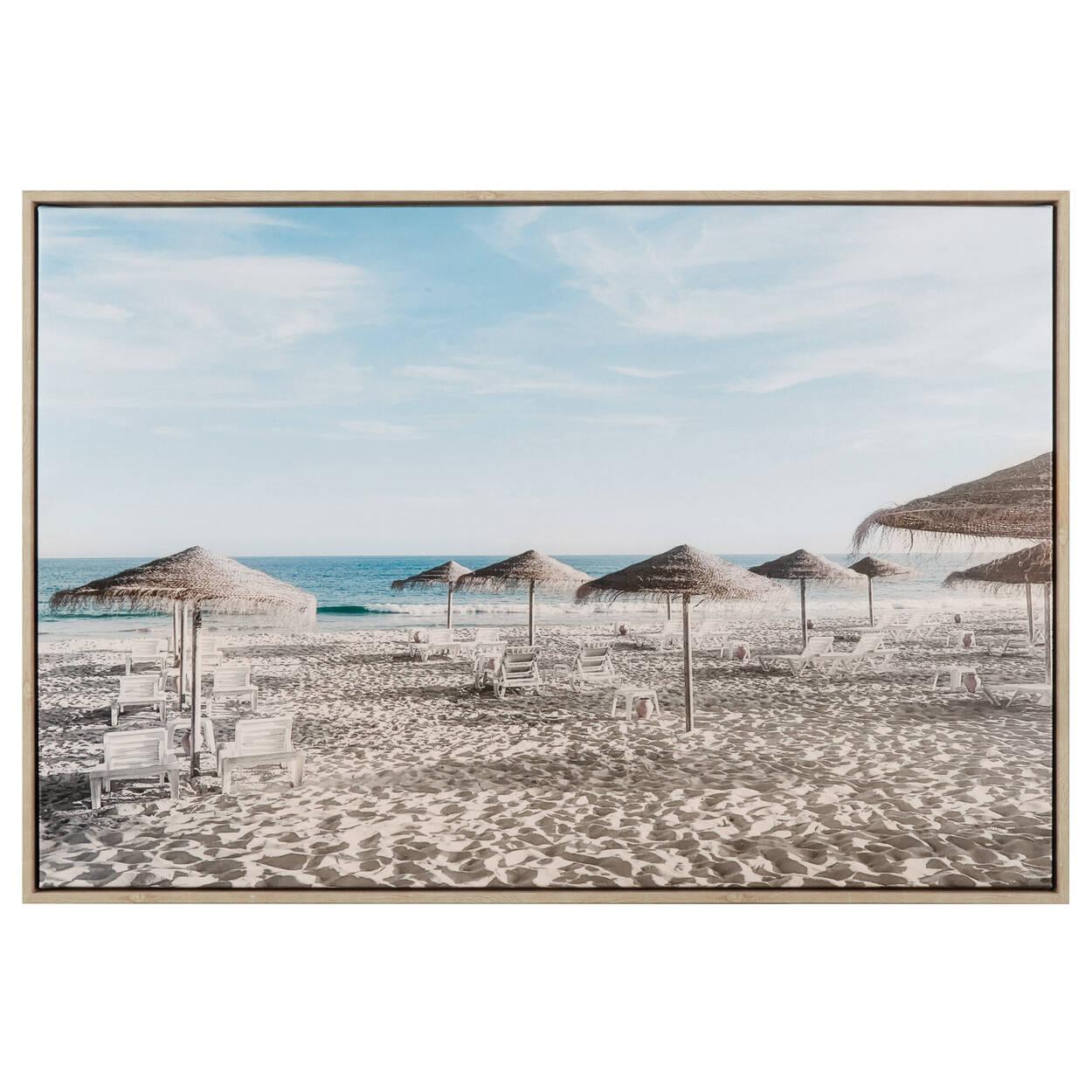 Tableau imprimé parasols de plage