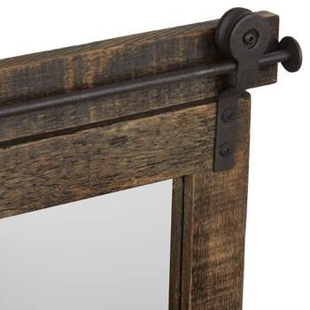 Miroir inspiré de bois de grange