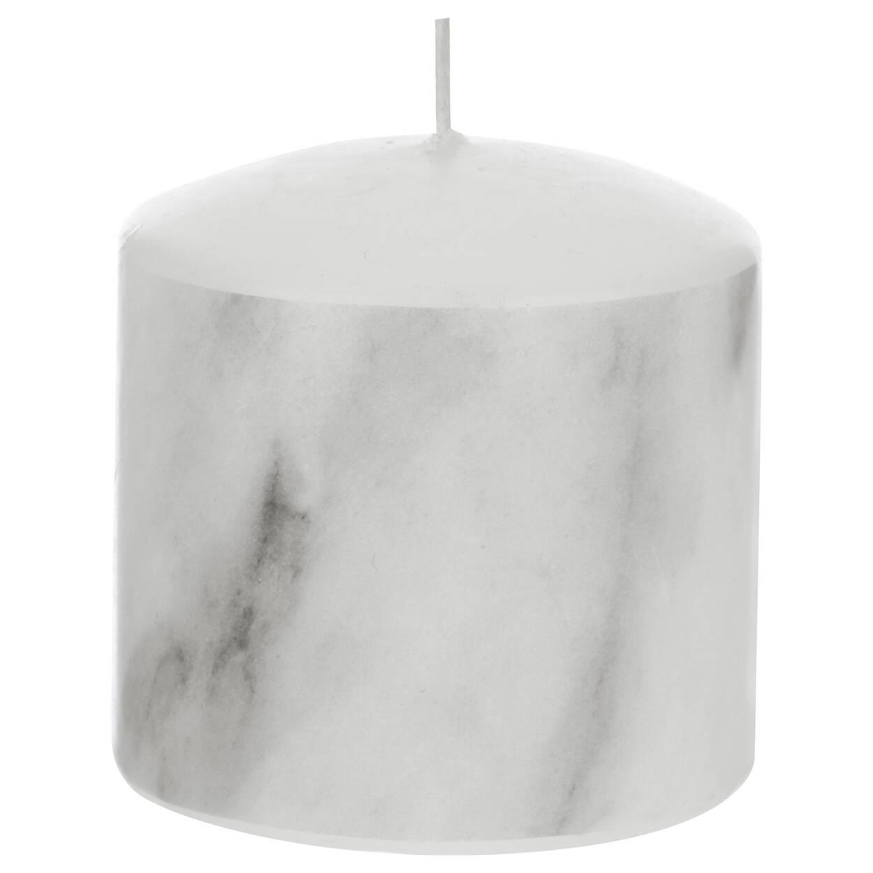Petite chandelle pilier à motif marbré