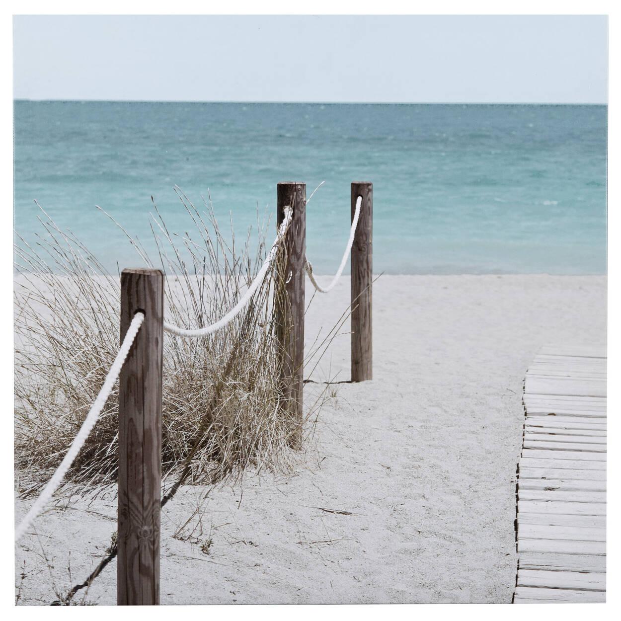 Toile imprimée chemin à la plage