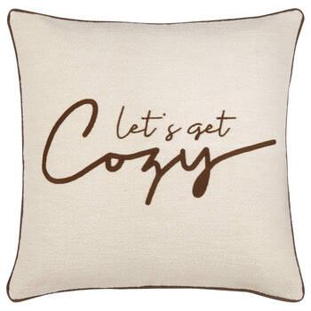 """Let's Get Cozy Decorative Pillow 19"""" x 19"""""""