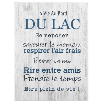 Tableau imprimé La Vie au Bord du Lac