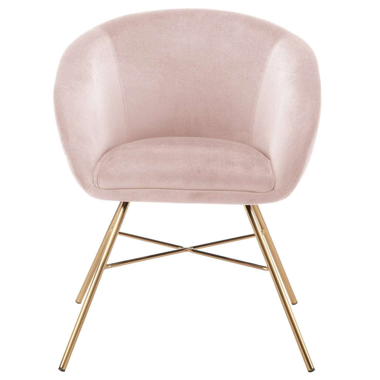 Velvet and Metal Lounge Chair
