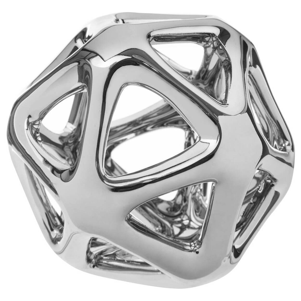 Sphère décorative ajourée en céramique