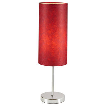 Metal and Satin Table Lamp