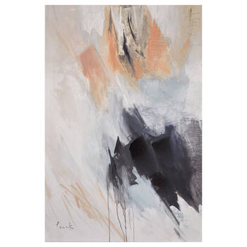 Gel Embellished Abstract Mix Canvas
