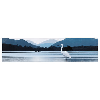 Egret on the Beach Printed Canvas