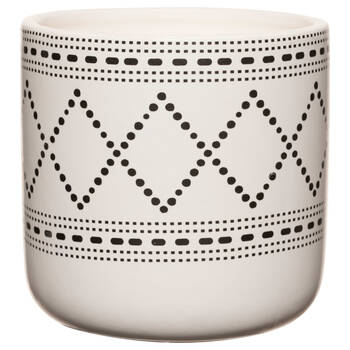 Chandelle dans un pot en céramique