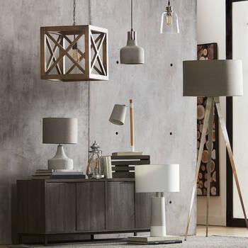 Wood and Metal Desk Lamp