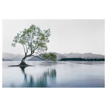 Green Tree Printed Canvas