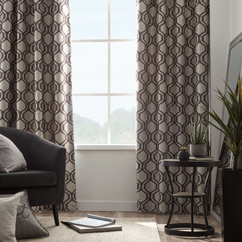 Loft Jacquard Lined Blackout Curtain