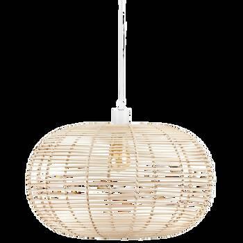 Lampe suspendue en rotin