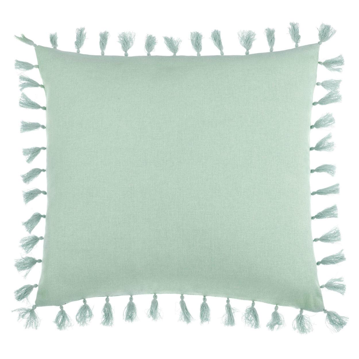 "Mi Casa Decorative Pillow Cover with Pom-Poms 18"" X 18"""