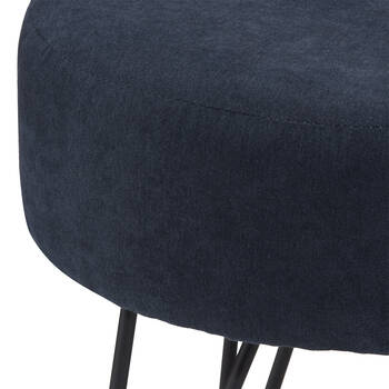 Suede and Metal Hairpin Legs Ottoman