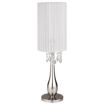 Metal and Ribbon Table Lamp