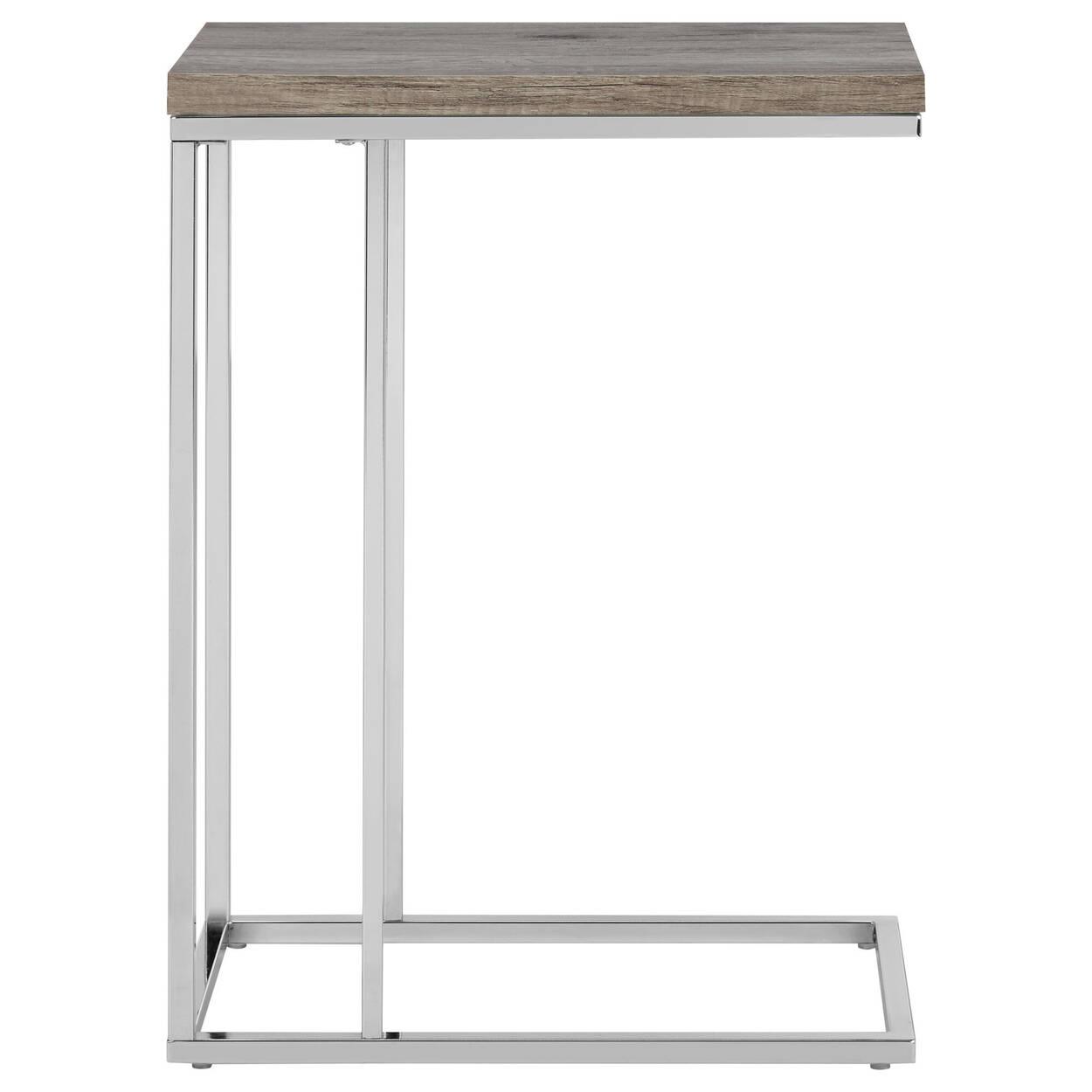 Table d'appoint en placage et en métal