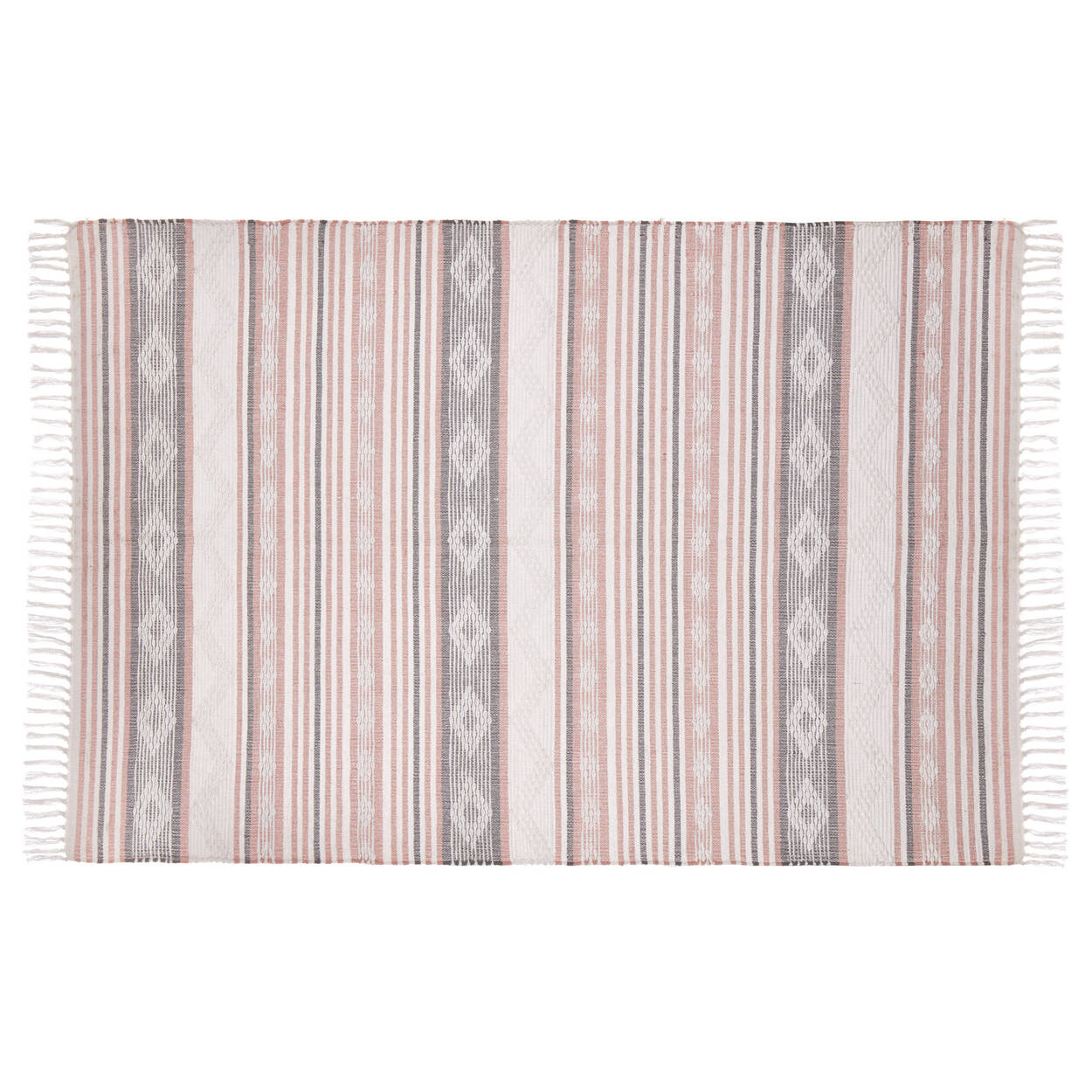 Geometric Striped Rug