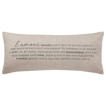 "L'amour Decorative Lumbar Pillow 15"" X 33"""