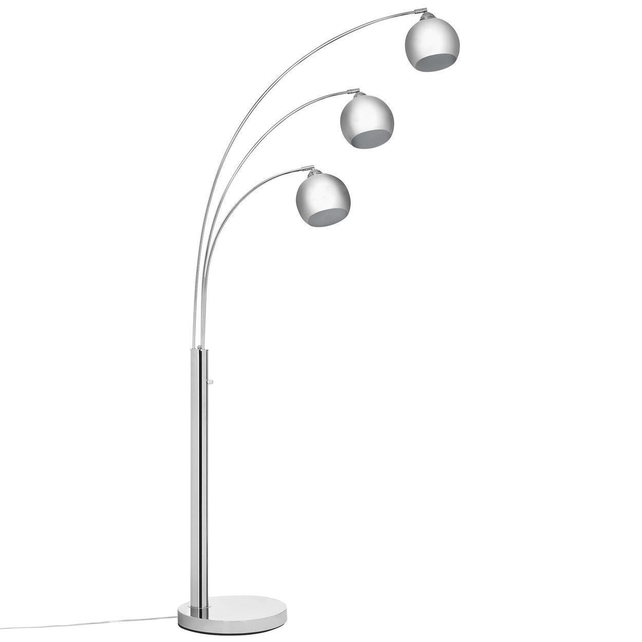 3 head chrome floor lamp