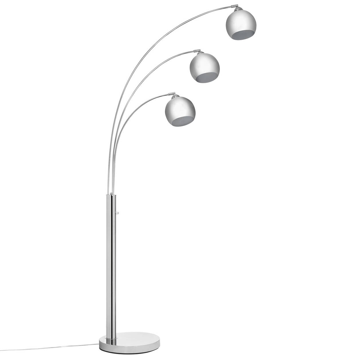 3 head chrome floor lamp