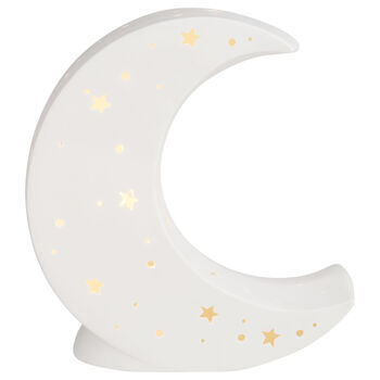 Cut-Out Ceramic Moon Night Light