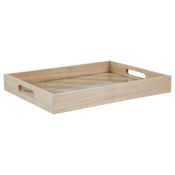 Wooden Herringbone Serving Tray