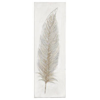 Feather Oil-Painted Canvas