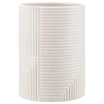 Modern Vase with Textured Lines