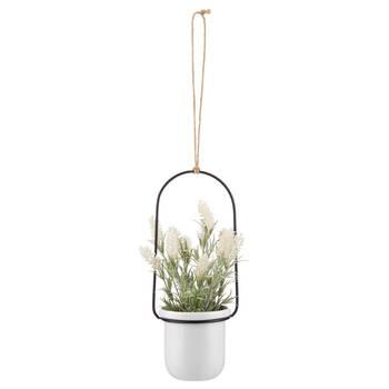 Pot suspendu avec fleur