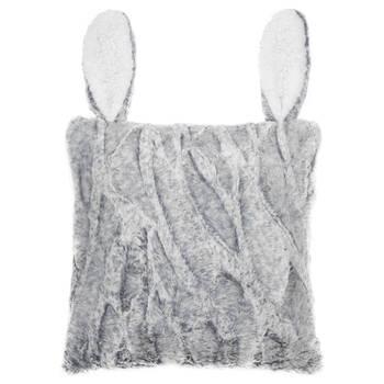 """Cierra Faux Fur Decorative Pillow with Ears 15"""" X 15"""""""