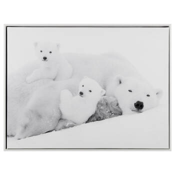 Polar Bear Family Printed Framed Art