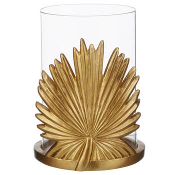 Tropical Leaf Galss Candle Holder
