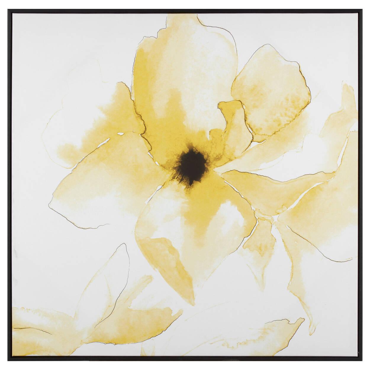 Art encandré fleur jaune