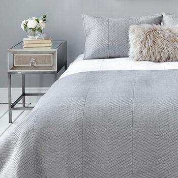 Collection nex ensemble de couvre lit chevronné 3 pièces