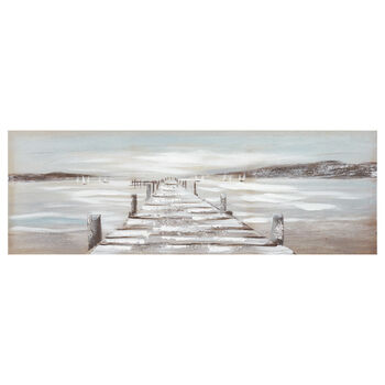 Oil Painted Dock On The Beach
