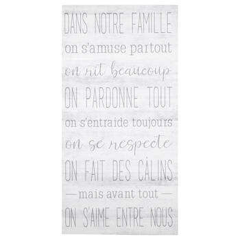 Tableau imprimé typographie Famille