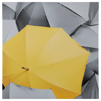 Yellow Umbrella Printed Canvas