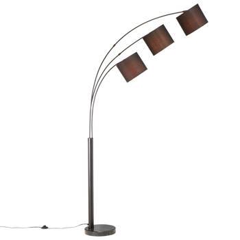 3-Head Floor Lamp with Marble Base