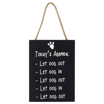 Dog Typography Hanging Wall Plaque