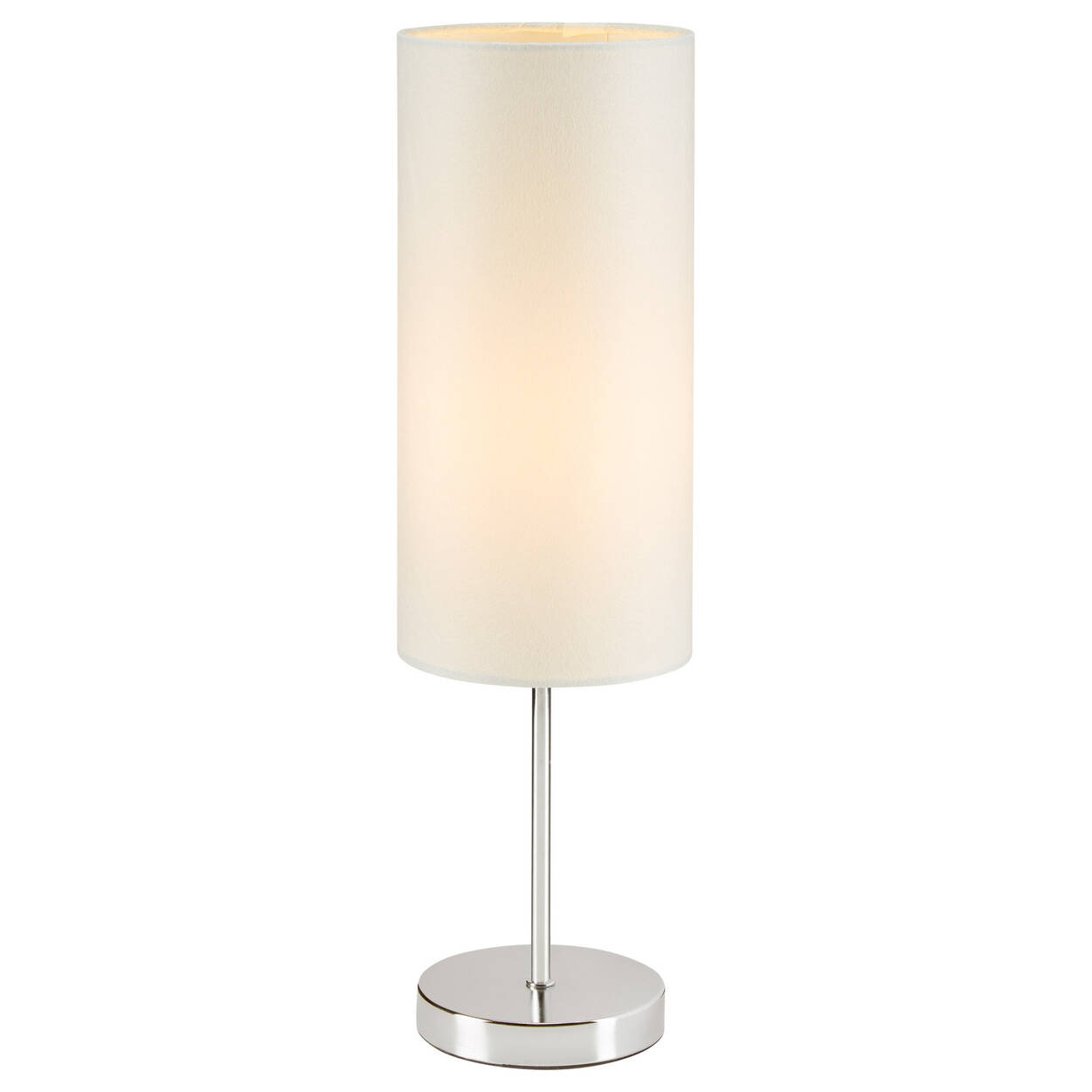 Lampe de table en métal et en satin