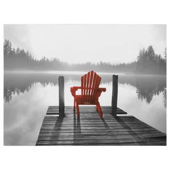 Tableau imprimé chaise rouge