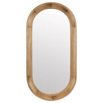 Miroir oval encadré