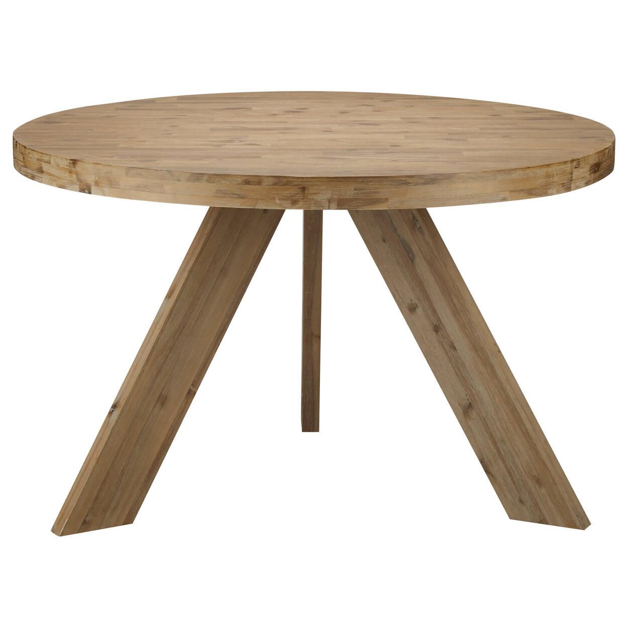 Table De Salle A Manger Ronde En Bois D Acacia Bouclair Com