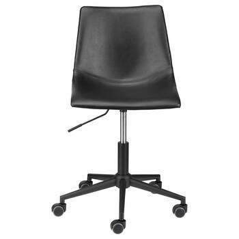 Crazy Horse faux Leather and Iron Rolling Office Chair