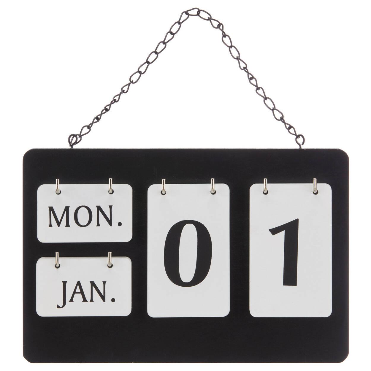Perpetual English Wall Calendar