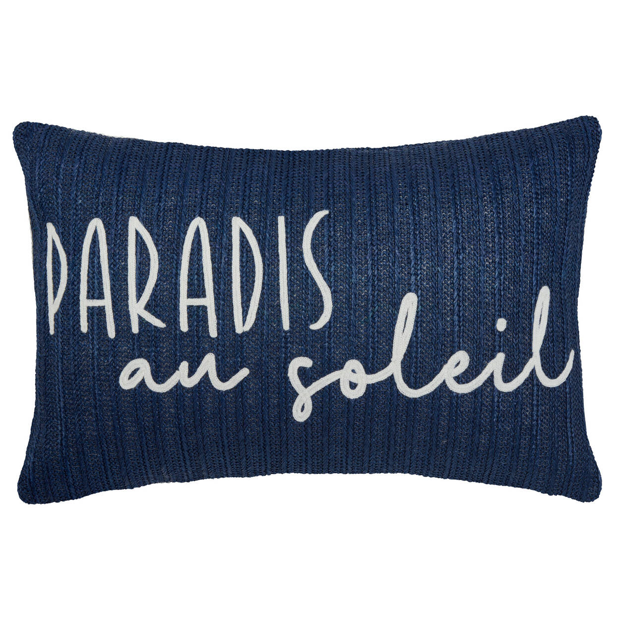 "Paradis Au Soleil Water-Repellent Decorative Lumbar Pillow 13"" X 20"""