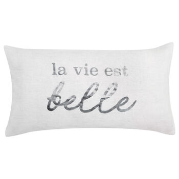 "La Vie Linen Decorative Lumbar Pillow 12"" X 22"""