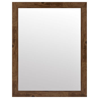 Wood-Like Framed Mirror