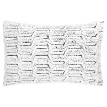 "Herbert Faux Fur Decorative Lumbar Pillow 14"" X 22'"